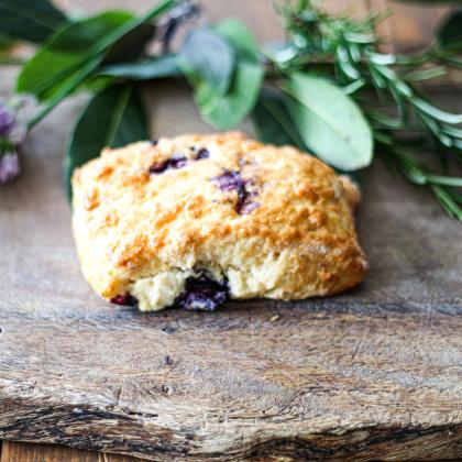 Blueberry and Lemon scone