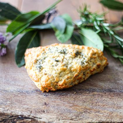 Stilton and Walnut scone